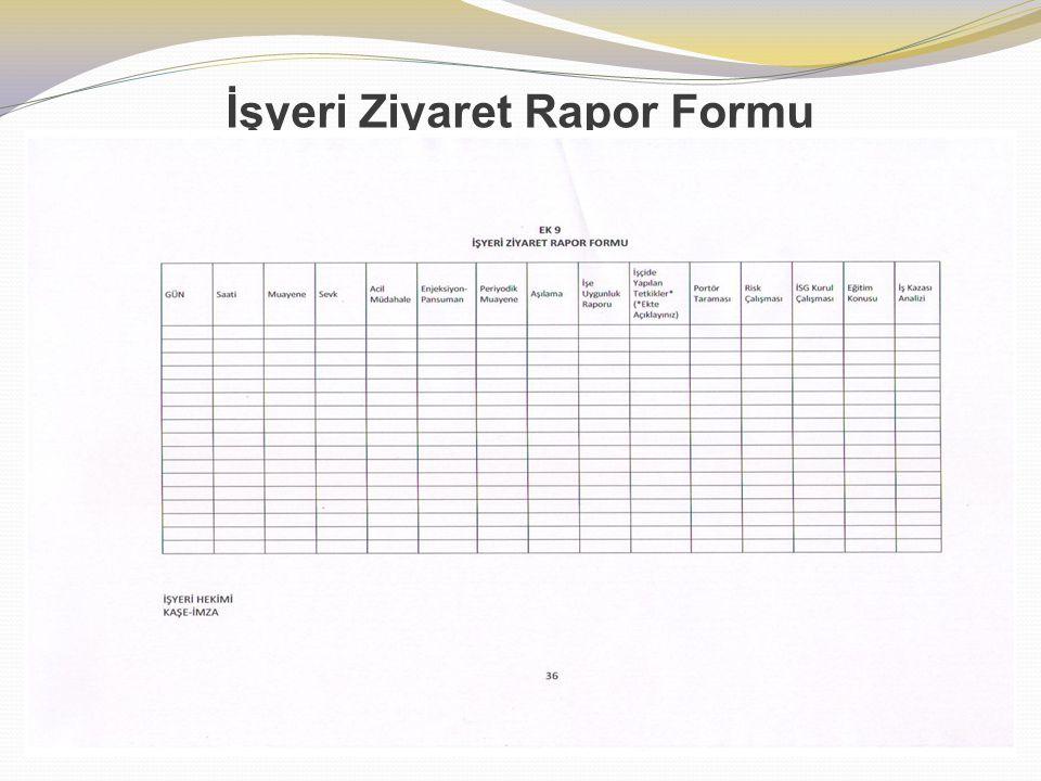 İşyeri Ziyaret Rapor Formu