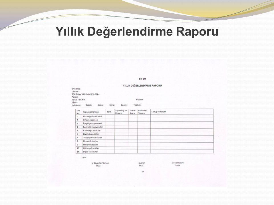 Yıllık Değerlendirme Raporu