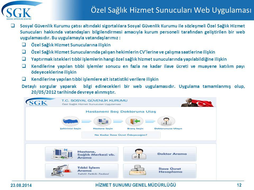 Özel Sağlık Hizmet Sunucuları Web Uygulaması