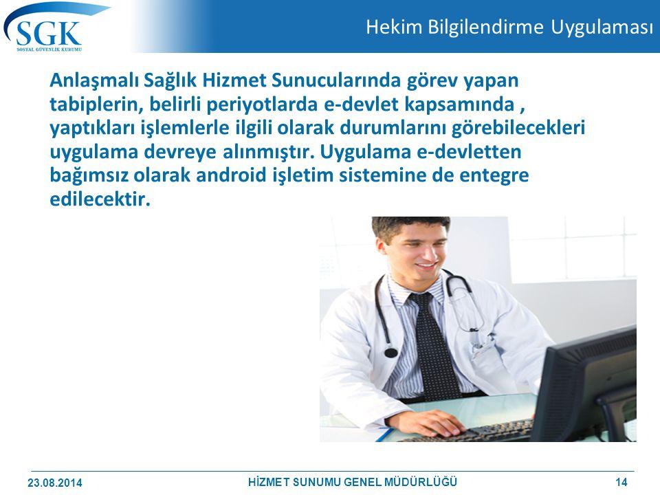 Hekim Bilgilendirme Uygulaması