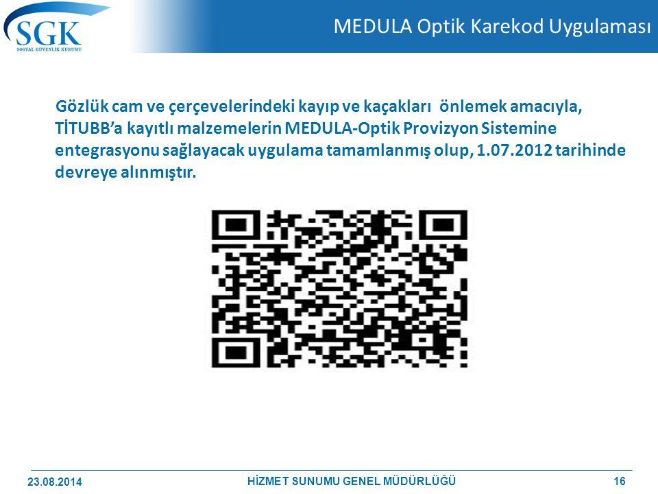 MEDULA Optik Karekod Uygulaması