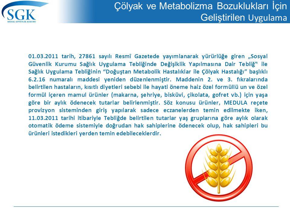 Çölyak ve Metabolizma Bozuklukları İçin Geliştirilen Uygulama