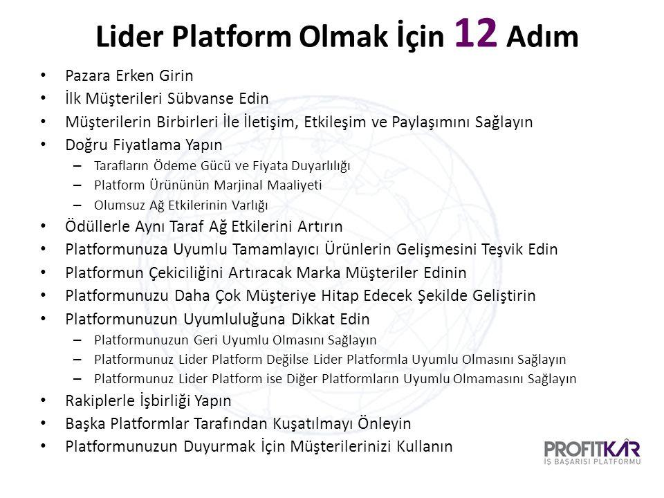 Lider Platform Olmak İçin 12 Adım