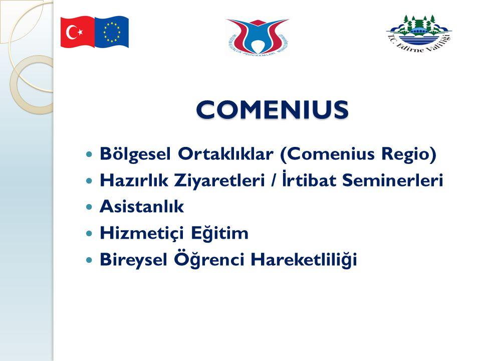 COMENIUS Bölgesel Ortaklıklar (Comenius Regio)