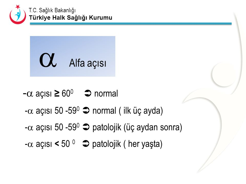  Alfa açısı - açısı ≥ 600  normal