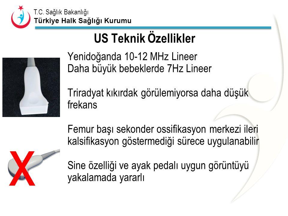 x US Teknik Özellikler Yenidoğanda 10-12 MHz Lineer