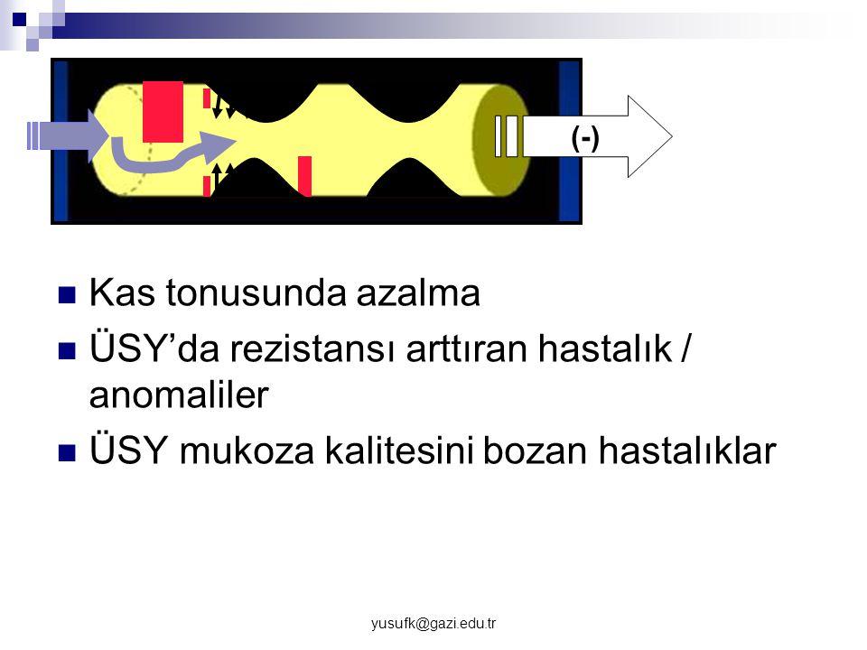 ÜSY'da rezistansı arttıran hastalık / anomaliler