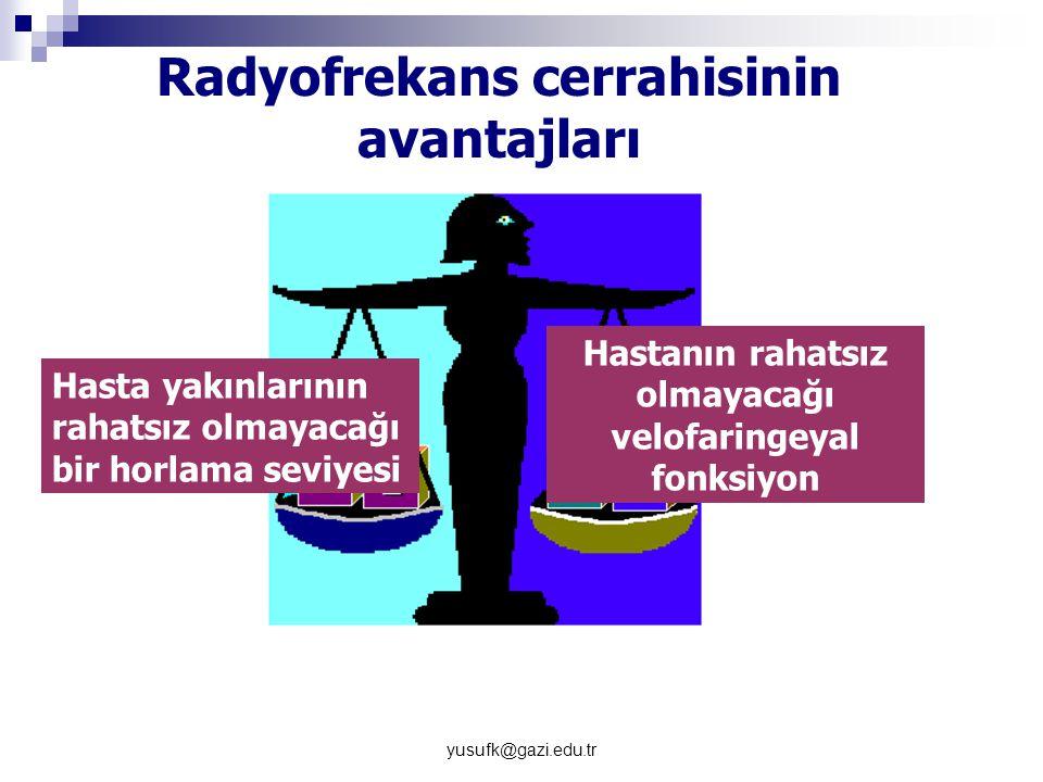 Radyofrekans cerrahisinin avantajları