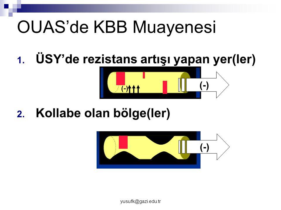 OUAS'de KBB Muayenesi ÜSY'de rezistans artışı yapan yer(ler)