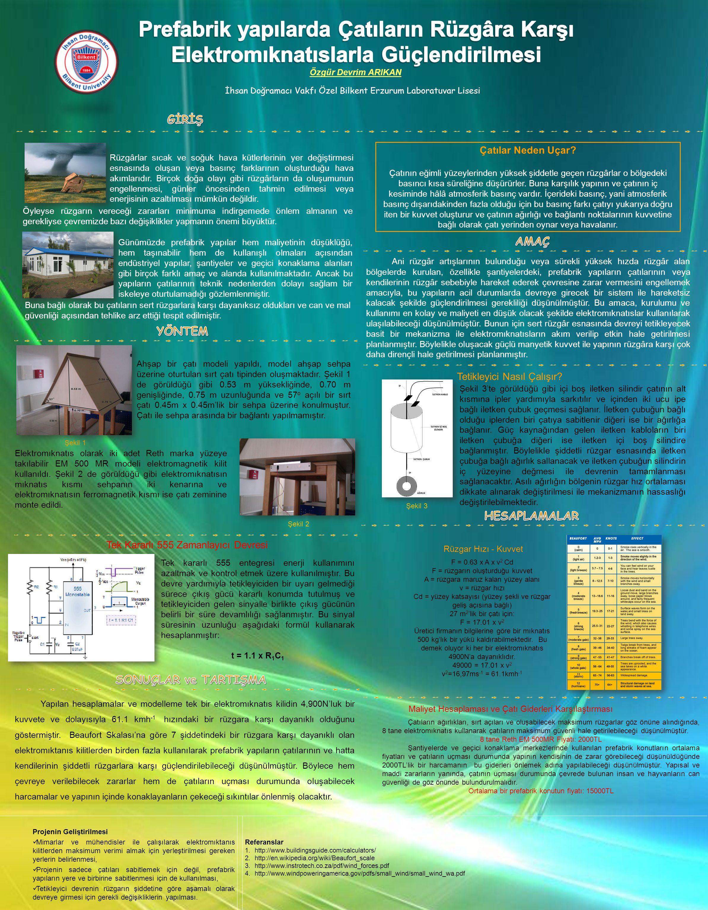 Prefabrik yapılarda Çatıların Rüzgâra Karşı
