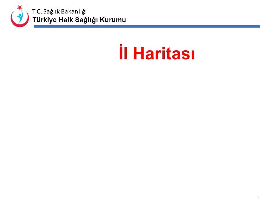 İl Haritası İlin içerisinde olduğu Türkiye sağlık bölgesi haritası konulacaktır.