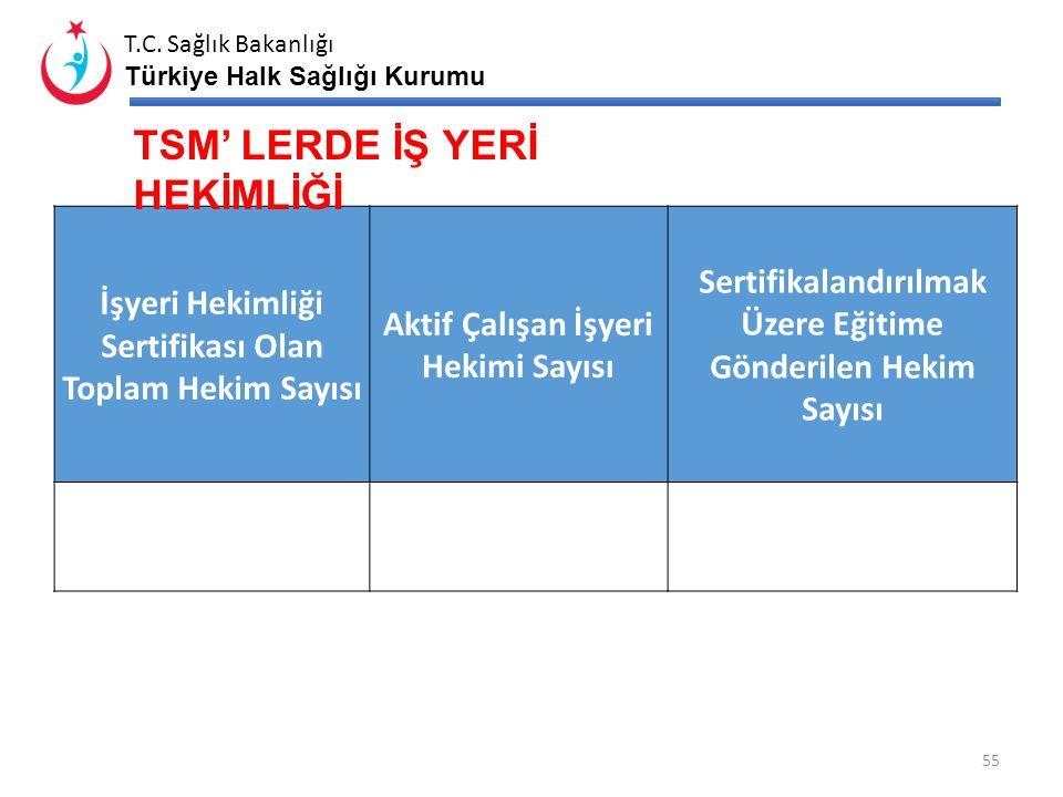 TSM' LERDE İŞ YERİ HEKİMLİĞİ