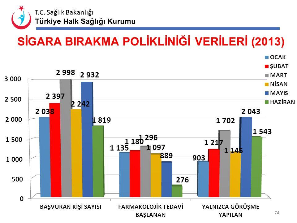 SİGARA BIRAKMA POLİKLİNİĞİ VERİLERİ (2013)