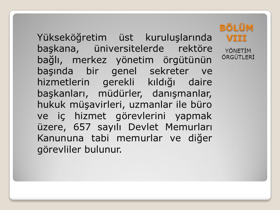 BÖLÜM VIII