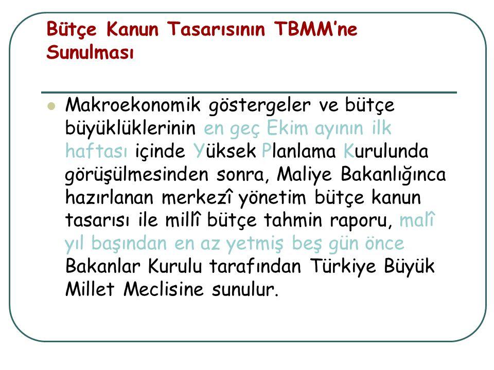 Bütçe Kanun Tasarısının TBMM'ne Sunulması