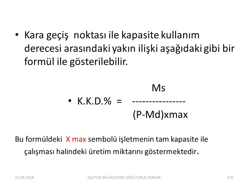 K.K.D.% = ---------------- (P-Md)xmax