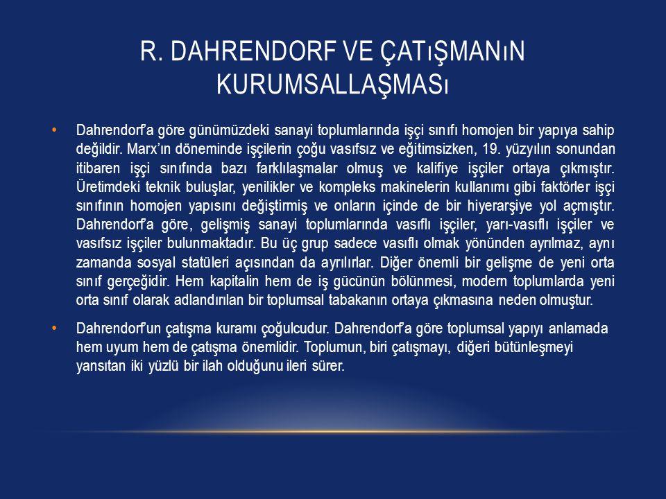 R. Dahrendorf ve Çatışmanın Kurumsallaşması