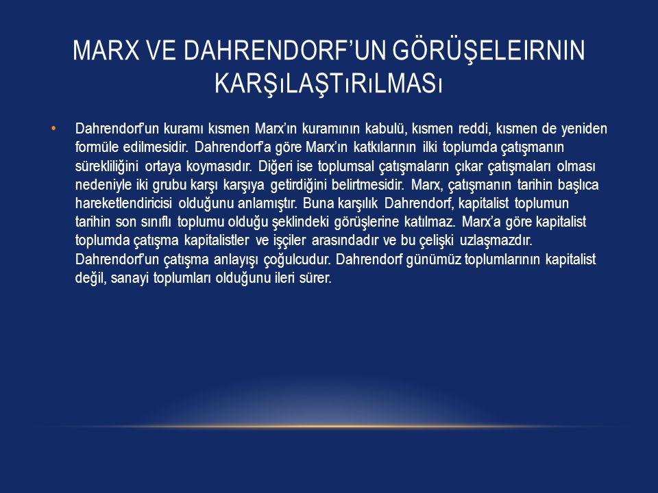 Marx ve dahrendorf'un görüşeleirnin karşılaştırılması
