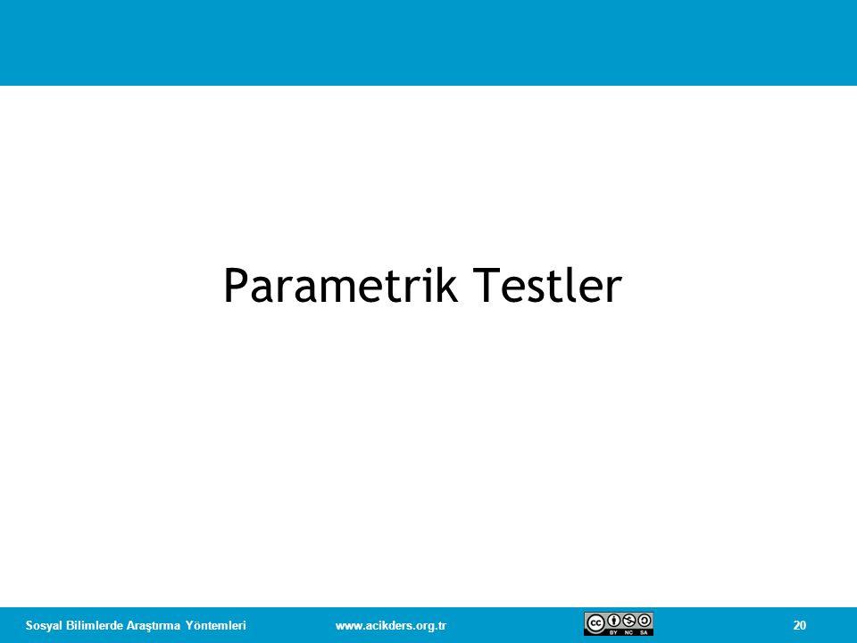 Parametrik Testler