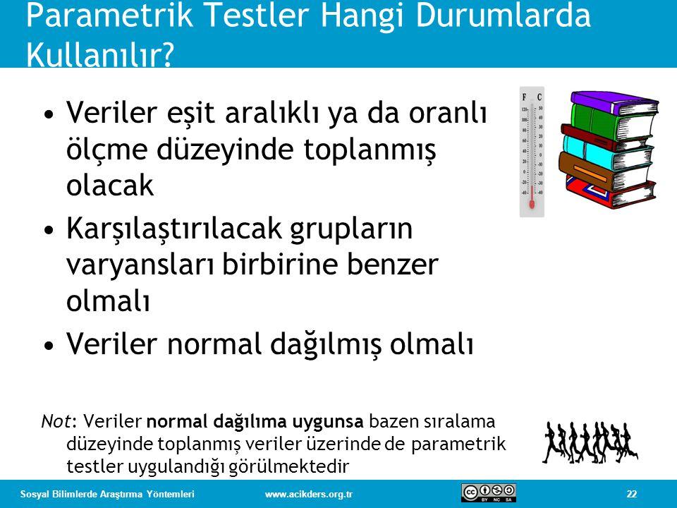 Parametrik Testler Hangi Durumlarda Kullanılır