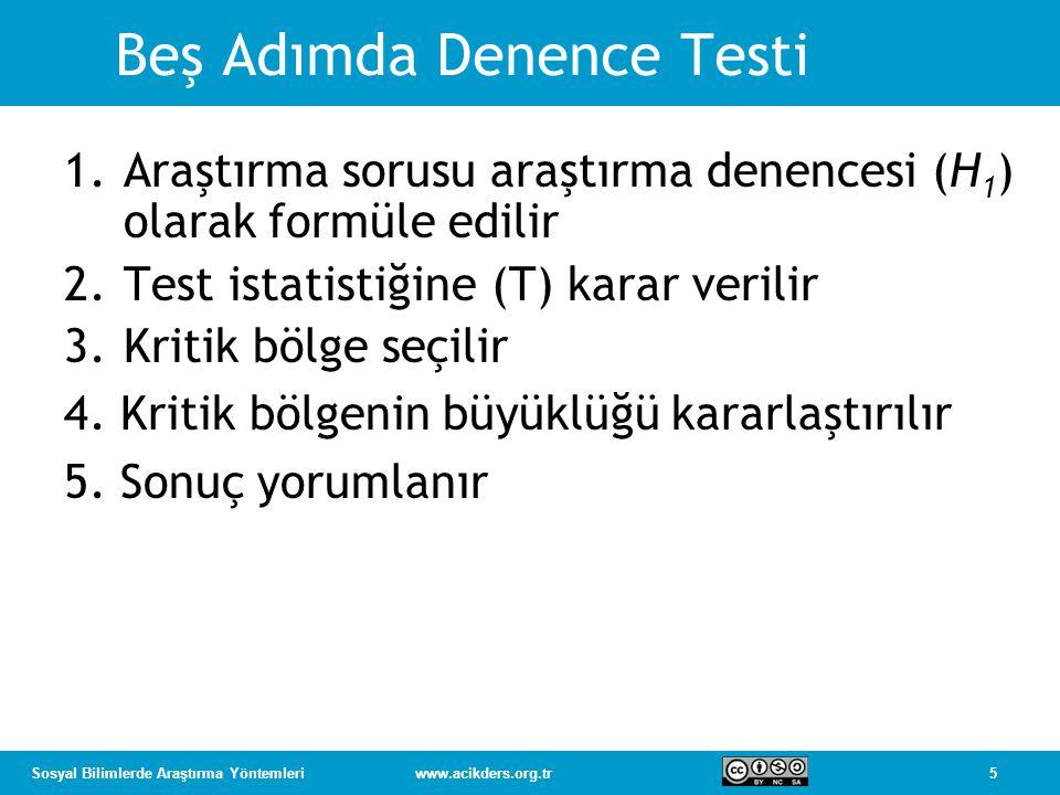 Beş Adımda Denence Testi