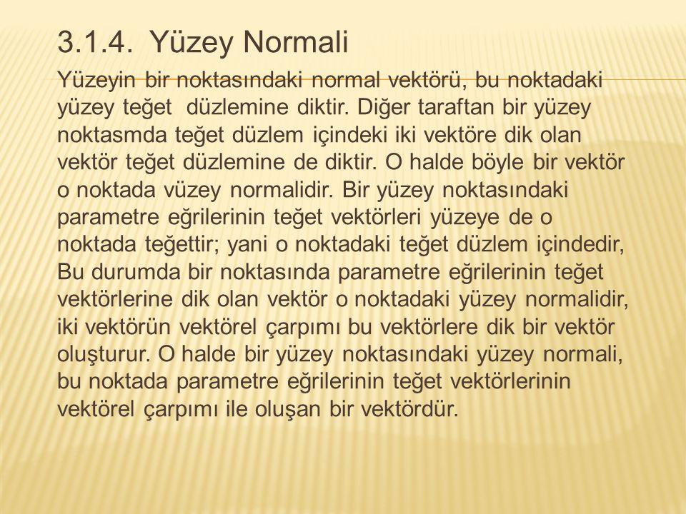 3.1.4. Yüzey Normali