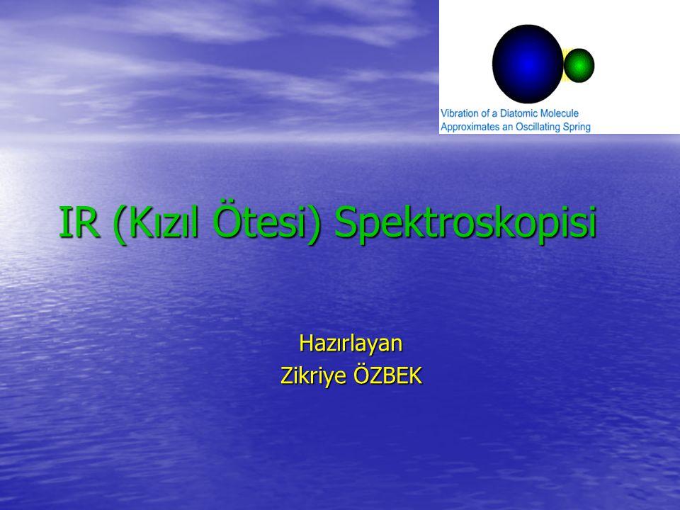 IR (Kızıl Ötesi) Spektroskopisi