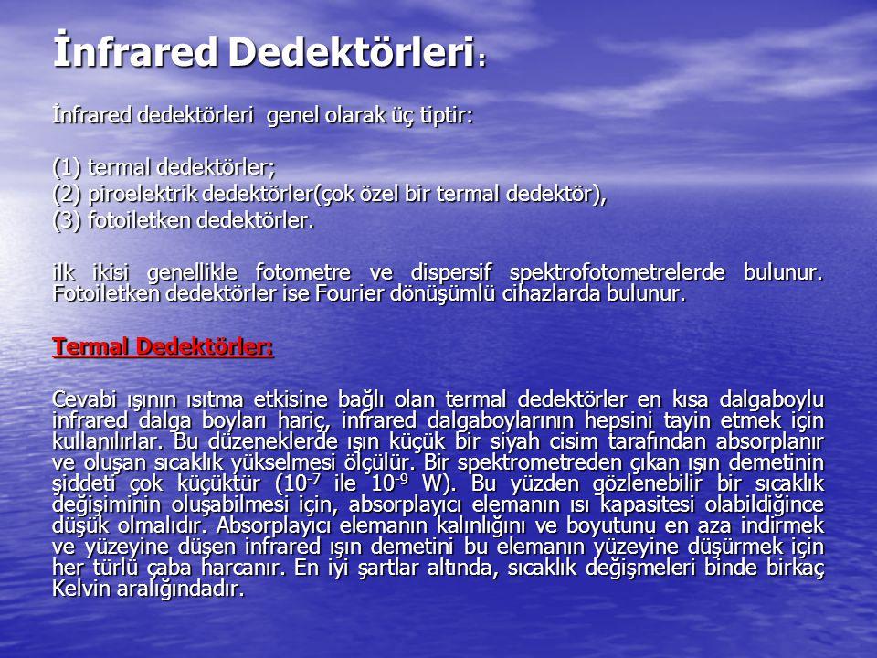 İnfrared Dedektörleri :