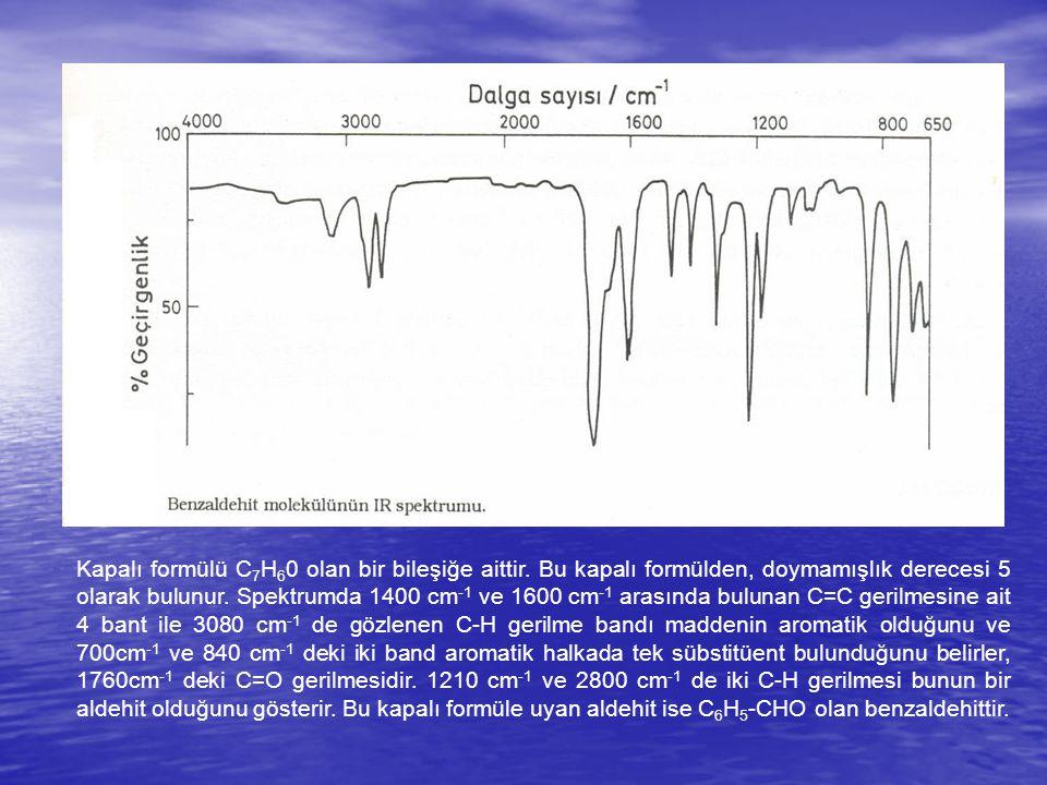 Kapalı formülü C7H60 olan bir bileşiğe aittir