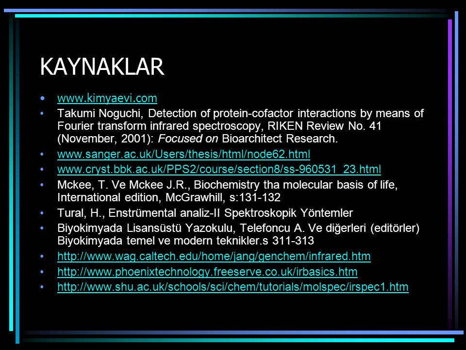 KAYNAKLAR www.kimyaevi.com
