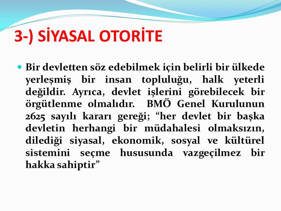 3-) SİYASAL OTORİTE