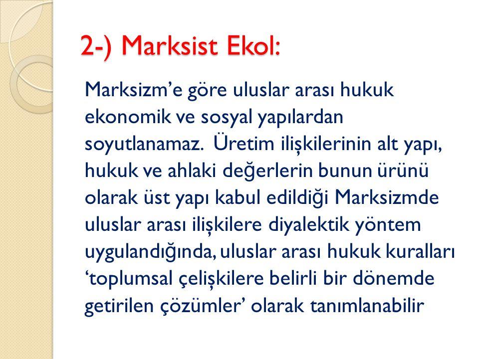 2-) Marksist Ekol:
