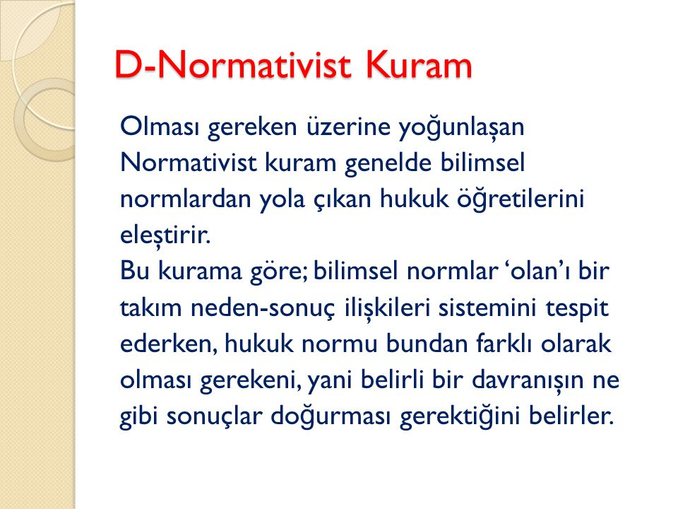 D-Normativist Kuram