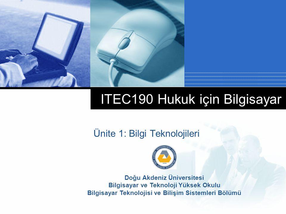 ITEC190 Hukuk için Bilgisayar
