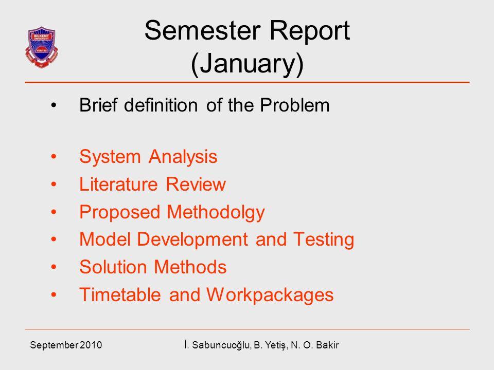 Semester Report (January)