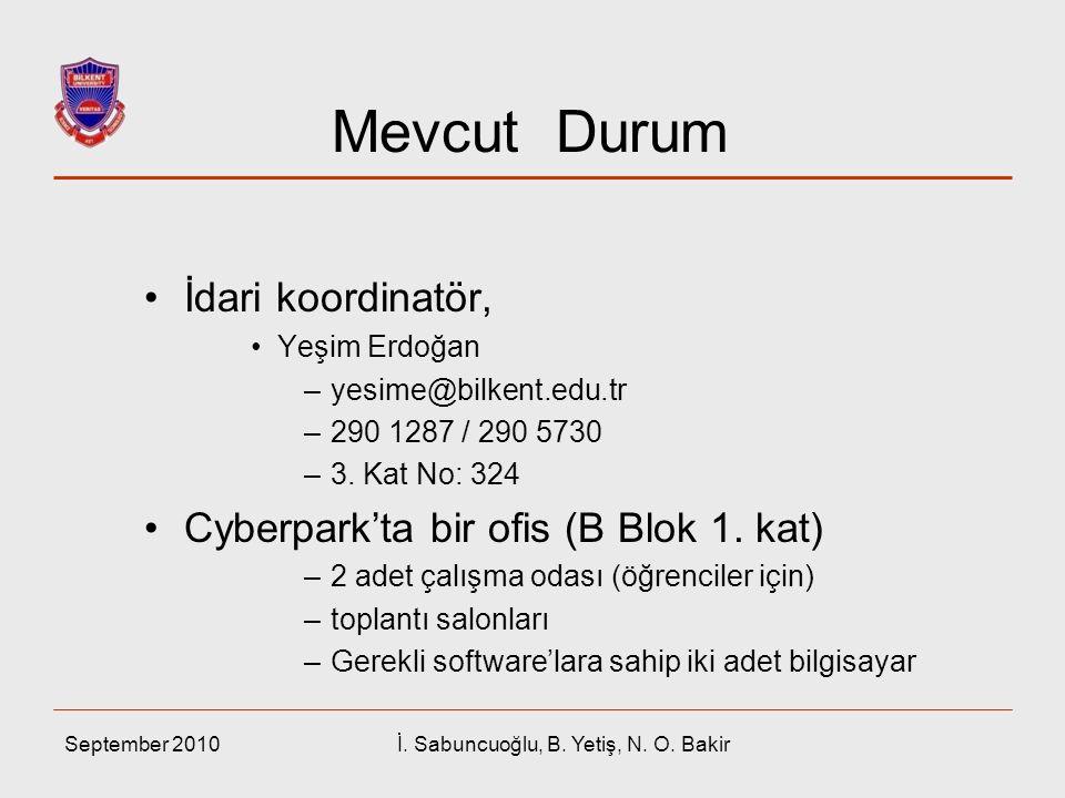 İ. Sabuncuoğlu, B. Yetiş, N. O. Bakir