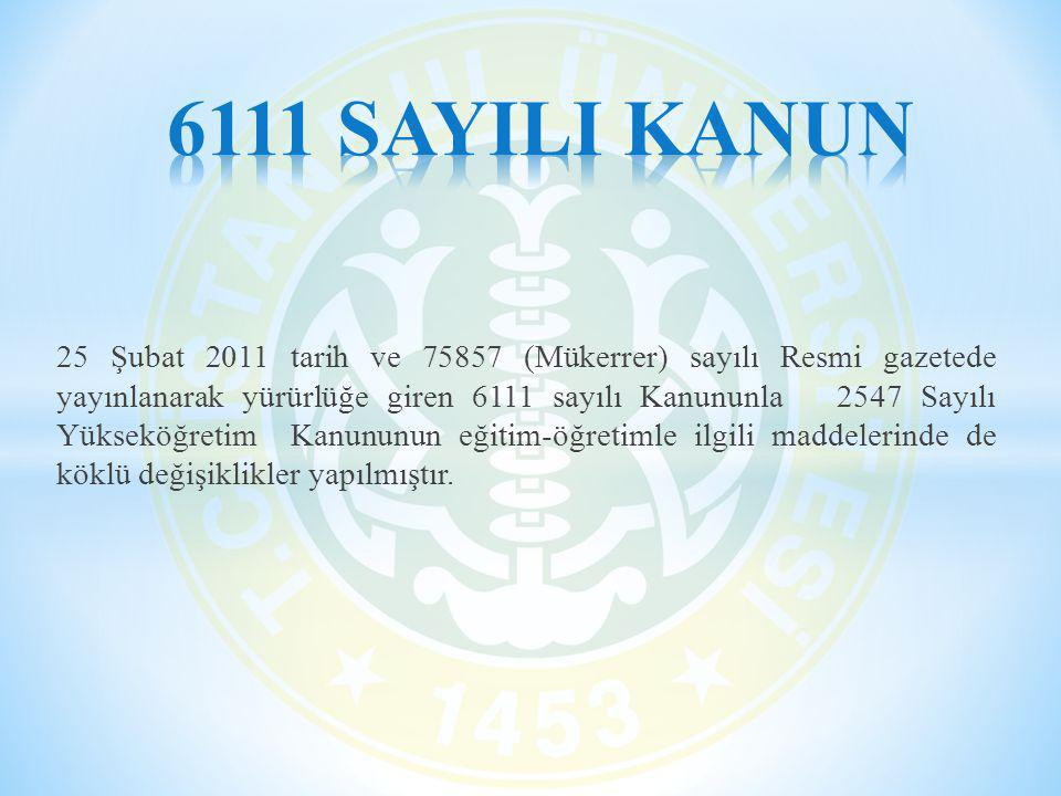 6111 SAYILI KANUN