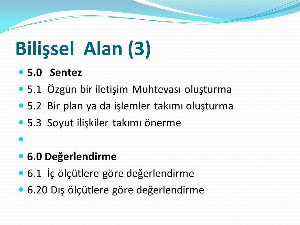Bilişsel Alan (3) 5.0 Sentez