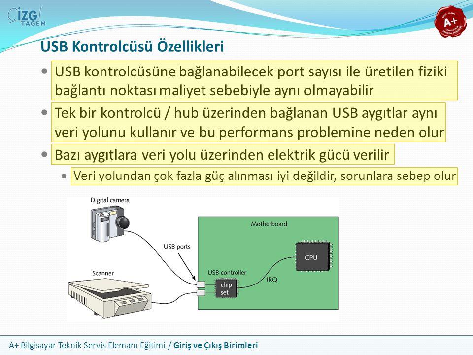USB Kontrolcüsü Özellikleri