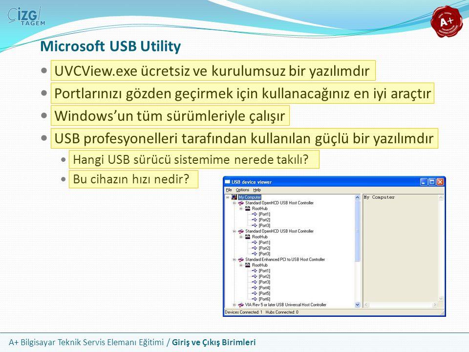 Microsoft USB Utility UVCView.exe ücretsiz ve kurulumsuz bir yazılımdır. Portlarınızı gözden geçirmek için kullanacağınız en iyi araçtır.
