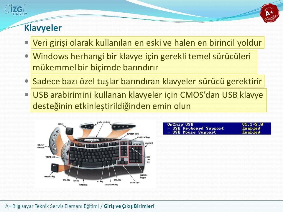 Klavyeler Veri girişi olarak kullanılan en eski ve halen en birincil yoldur.