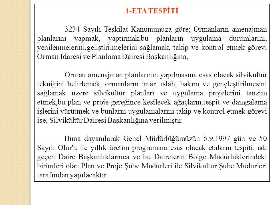 1-ETA TESPİTİ