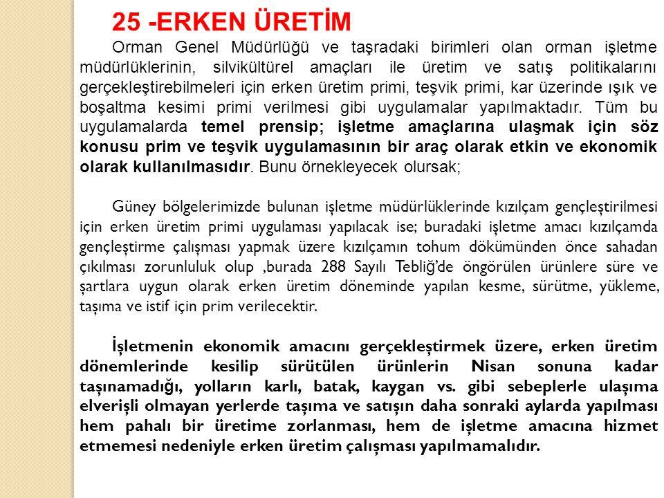 25 -ERKEN ÜRETİM