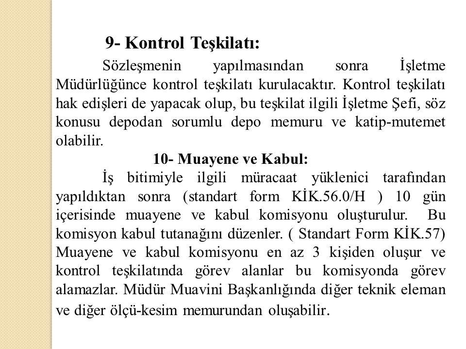 9- Kontrol Teşkilatı: