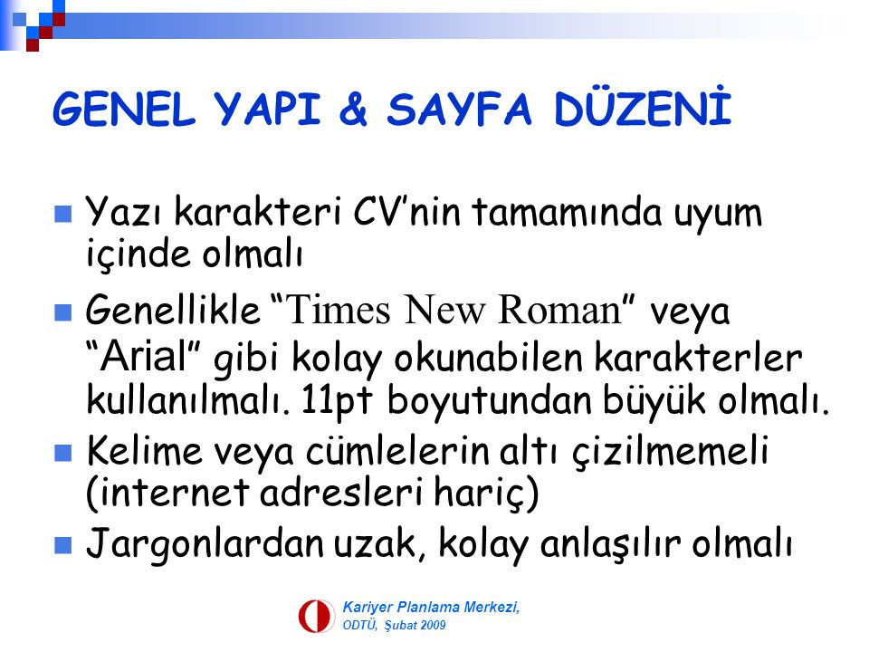 GENEL YAPI & SAYFA DÜZENİ