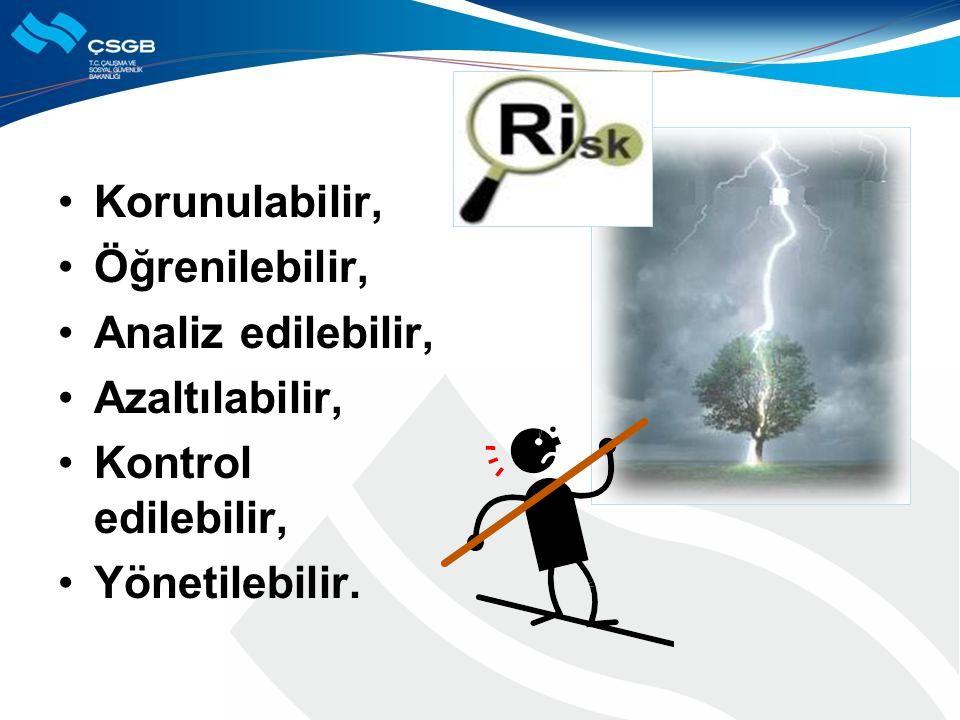 Korunulabilir, Öğrenilebilir, Analiz edilebilir, Azaltılabilir, Kontrol edilebilir, Yönetilebilir.