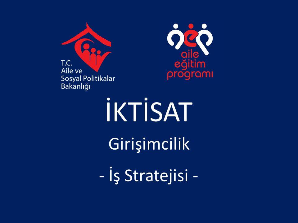 İKTİSAT Girişimcilik - İş Stratejisi -