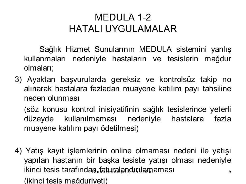 MEDULA 1-2 HATALI UYGULAMALAR