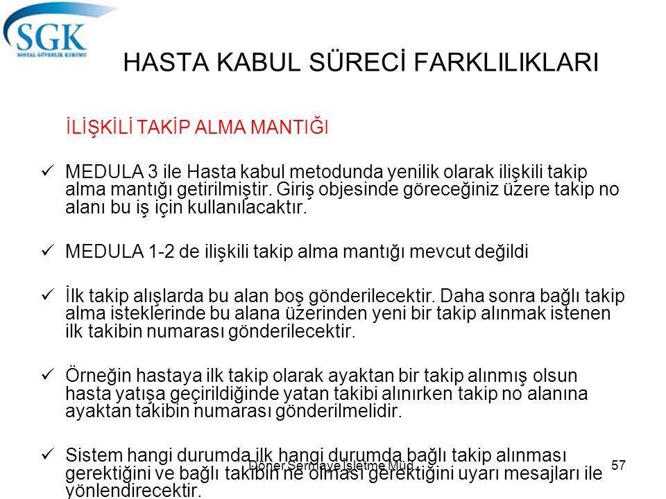 HASTA KABUL SÜRECİ FARKLILIKLARI