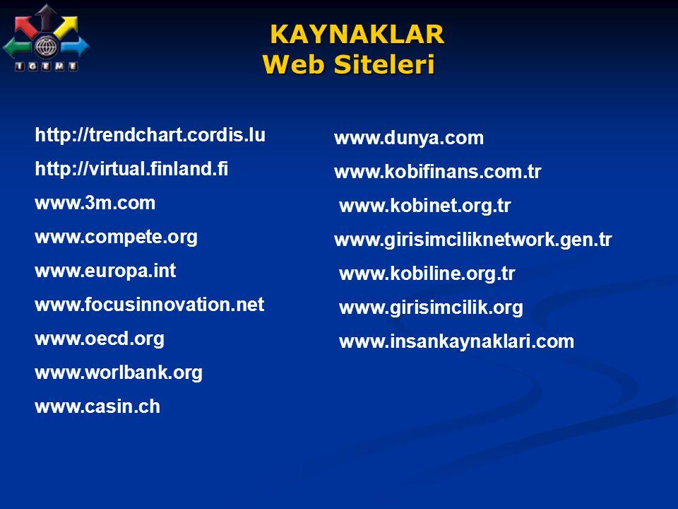 KAYNAKLAR Web Siteleri